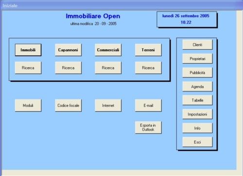 Open - agenzia immobiliare - schermata iniziale